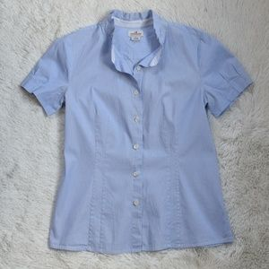 J. Crew Pinstripe Button Down Shirt